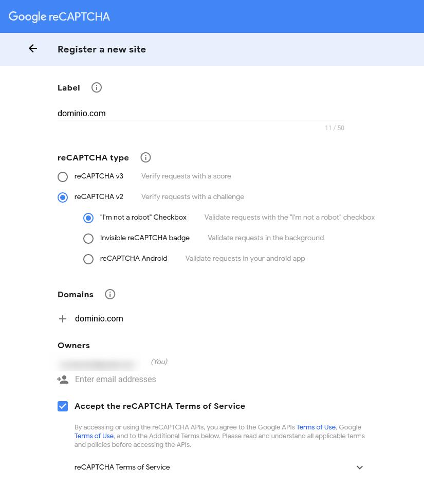 Google reCaptcha - Detalhes